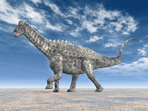 Dinosauro Ampelosaurus Fotografia Stock Libera da Diritti