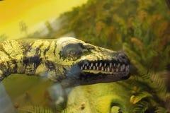 Dinosauro antico nella foresta immagine stock
