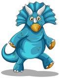 Dinosauro blu con i corni Fotografia Stock Libera da Diritti