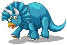 Dinosauro blu con i corni Fotografia Stock