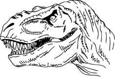 Dinosauro capo illustrazione di stock