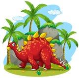 Dinosauro che cammina nel campo Fotografia Stock Libera da Diritti