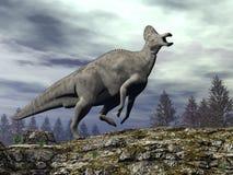 Dinosauro del Corythosaurus - 3D rendono Fotografia Stock Libera da Diritti