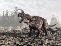 Dinosauro del Einiosaurus - 3D rendono illustrazione vettoriale