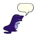 dinosauro del fumetto con il fumetto Immagini Stock