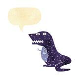 dinosauro del fumetto con il fumetto Fotografie Stock Libere da Diritti