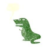 dinosauro del fumetto con il fumetto Immagine Stock Libera da Diritti