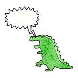 dinosauro del fumetto con il fumetto Fotografia Stock Libera da Diritti