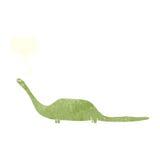 dinosauro del fumetto con il fumetto Immagini Stock Libere da Diritti