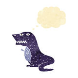 dinosauro del fumetto con la bolla di pensiero Immagine Stock Libera da Diritti