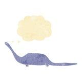 dinosauro del fumetto con la bolla di pensiero Fotografie Stock
