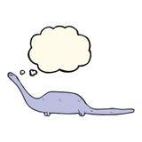 dinosauro del fumetto con la bolla di pensiero Immagini Stock