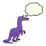 dinosauro del fumetto con la bolla di pensiero Immagini Stock Libere da Diritti