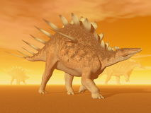 Dinosauro del Kentrosaurus - 3D rendono Fotografia Stock