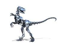 Dinosauro del rapace del robot Immagine Stock
