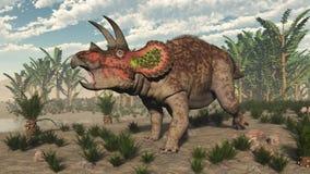Dinosauro del triceratopo - 3D rendono illustrazione vettoriale