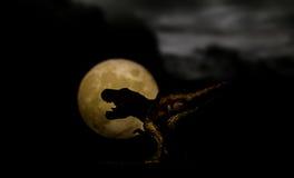 Dinosauro della siluetta Fotografie Stock Libere da Diritti