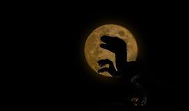 Dinosauro della siluetta Fotografia Stock Libera da Diritti