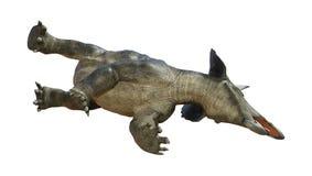 dinosauro Diceratops della rappresentazione 3D su bianco illustrazione di stock