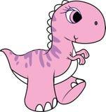 Dinosauro, dinosauro rosa Fotografia Stock