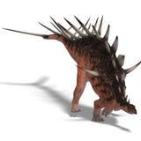 Dinosauro gigante di kentrosaurus Immagine Stock Libera da Diritti