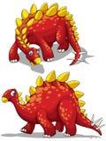 Dinosauro nel colore rosso Fotografie Stock Libere da Diritti