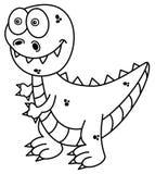 Dinosauro per colorare royalty illustrazione gratis