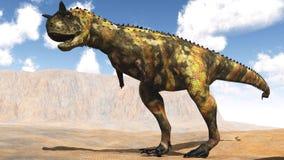 Dinosauro predatore illustrazione vettoriale