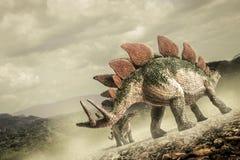Dinosauro, stegosauro fotografia stock libera da diritti