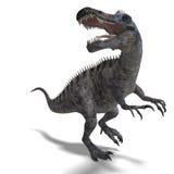 Dinosauro Suchominus. rappresentazione 3D con il residuo della potatura meccanica Immagini Stock Libere da Diritti