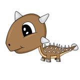 Dinosauro sveglio del Ankylosaurus del bambino del fumetto Immagine Stock