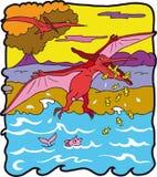 dinosaurpteranodonte Fotografering för Bildbyråer