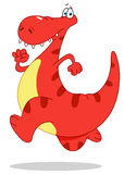 dinosaurrunning Royaltyfri Fotografi