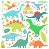 Dinosaurs arial Royalty Free Stock Photography