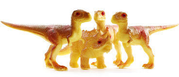 Dinosaurs attack predators toys objects Stock Images
