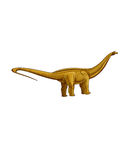 Dinosaurs:brontosaurus. It has a long tail, a long neck and stout body Stock Photo