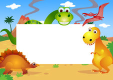 Dinosaurs cartoon Royalty Free Stock Photography