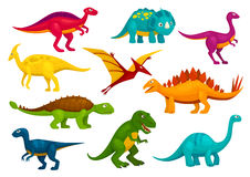 Dinosaurs cartoon collection. Vector animals Stock Images
