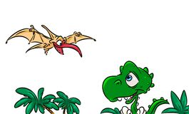 Dinosaurs cartoon illustration Royalty Free Stock Photo