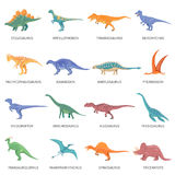 Dinosaurs Colored Icons Set Royalty Free Stock Photos