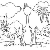 Dinosaurs Coloring Pages cartoon illustration Royalty Free Stock Image