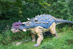 Dinosaurs of different kinds. TORONTO - AUGUST 17: The Exhibition of Dinosaurs at Canadas Wonderland which is a 330-acre  theme park. It is the first major Stock Photography