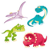 Dinosaurs Family. Funny cartoon and  characters