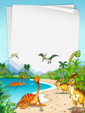 Dinosaurs at the ocean Stock Photos