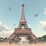 The dinosaurs in Paris Stock Photo