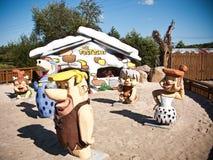 Dinosaurs Park in Leba Poland Stock Images