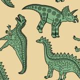 Dinosaurs_pattern2 Image libre de droits