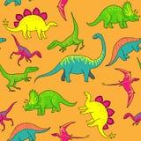 Dinosaurs pattern Stock Photos