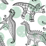 Dinosaurs pattern Royalty Free Stock Photos