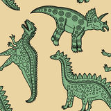 Dinosaurs_pattern2 Royalty Free Stock Image